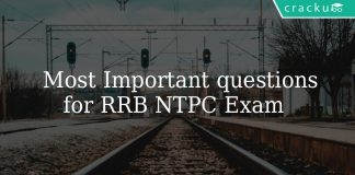 Most Important questions for RRB NTPC Exam