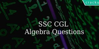 SSC CGL practice questions on algebra