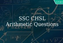 SSC CHSL Arithmetic Questions