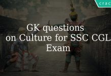 GK Questions on Indian Culture and arts for SSC CGL Exam