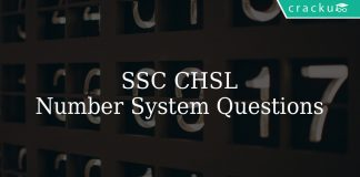 ssc chsl number system questions