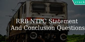 RRB NTPC Statement And Conclusions Questions