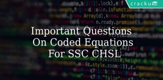 Important Questions On Coded Equations For SSC CHSL