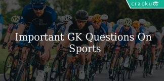 Important GK Questions On Sports