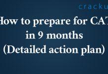 CAT 9 months plan