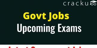 Upcoming exams for Govt Jobs