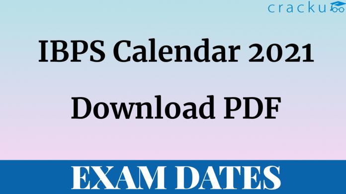 IBPS Calendar 2021 PDF Download