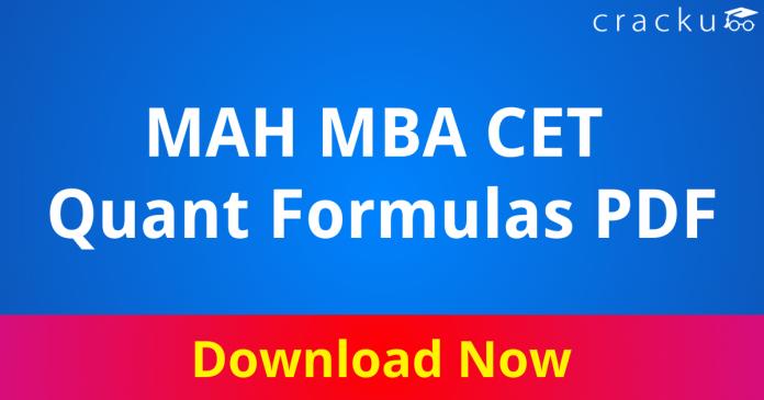 MAH MBA CET Quant Formulas PDF