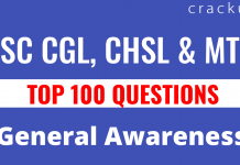 General awareness questions | Top 100 general awareness questions