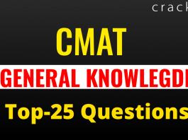 CMAT GK QUESTIONS