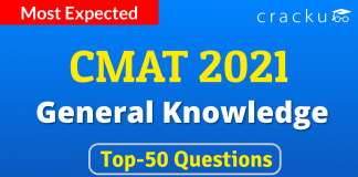 CMAT GK Top-50 Questions March 25th