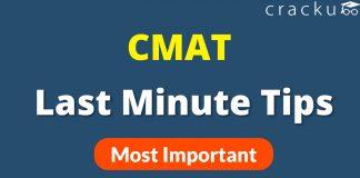 CMAT Tips