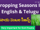 Cropping Seasons In English & Telugu