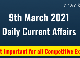 Daily current affairs March 9TH 2021 (1)