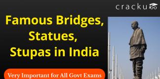 Famous Bridges, Statues, Stupas in India Download PDF