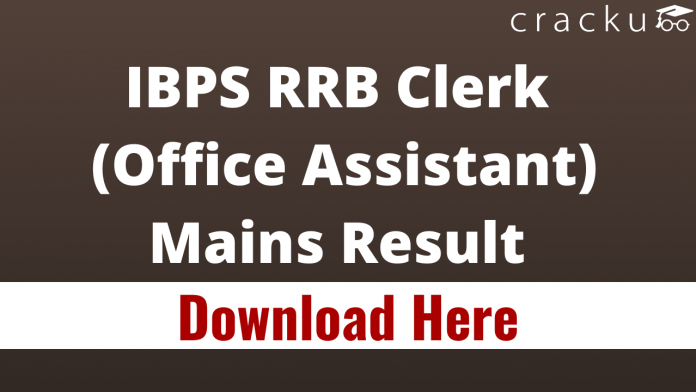IBPS RRB Clerk (Office Assistant) Mains Result