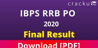 IBPS RRB PO 2020 Final Result Pdf Download