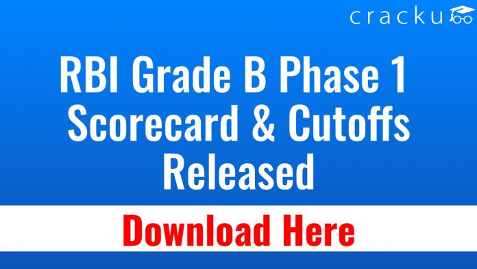 RBI GRADE B Scorecard