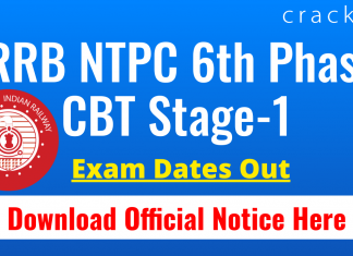 RRB NTPC 6th Phase CBT-1 Exam Dates Out