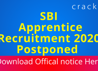 SBI Apprentice exam postponed to April 2021