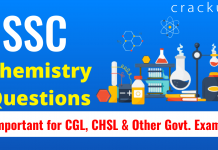 SSC Chemistry Questions