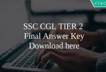 SSC CGL TIER 2 Final Answer Key