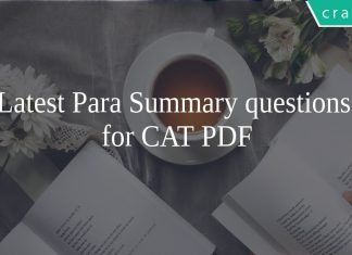 CAT PARA SUMMARY