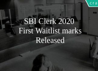 SBI Clerk 2020 Waiting List Released