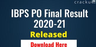IBPS PO Final Result 2020-21