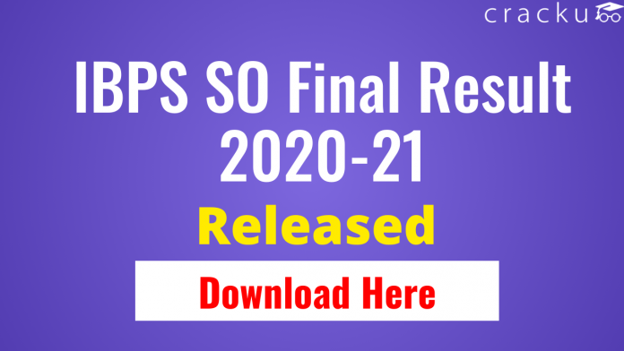 IBPS SO Final Result 2020-21