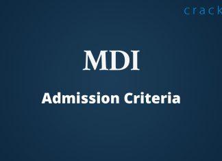 MDI Admission Criteria