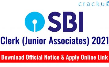 SBI Clerk (Junior Associates) 2021