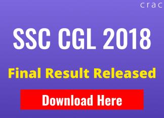 SSC CGL 2018 Final Result