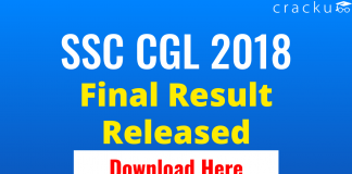 SSC CGL 2018 Final Result