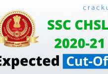 SSC CHSL 2020-21 Expected cut off
