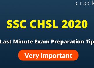 10 Last Minute Exam Tips SSC CHSL 2020 Exam