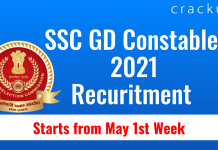SSC GD Constable 2021 Recuritment