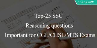 SSC Reasoning Questions