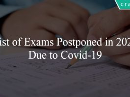 Exams postponed 2021 due to Covid-19