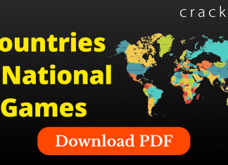 List of countries and their national games