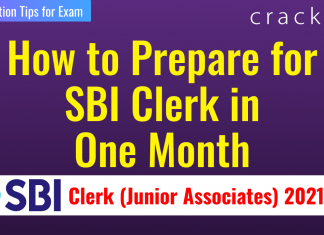 How to Prepare for SBI Clerk in 1 Month