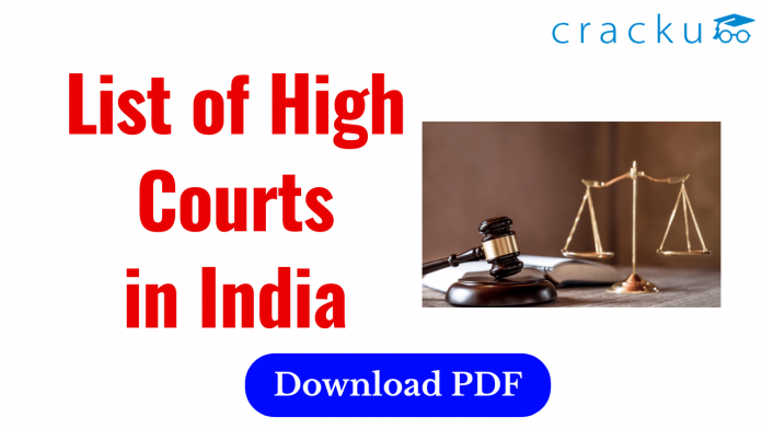 List of High Courts in India
