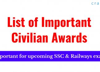 List of Important Civilian Awards