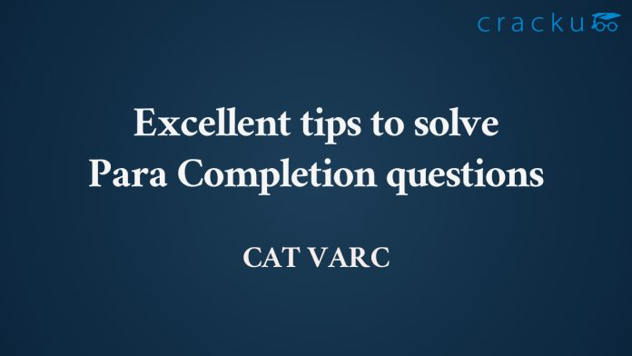 Para completion in CAT VARC