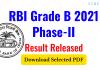 RBI Grade-B 2021 Phase-II Result