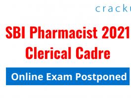 SBI Pharmacist 2021 Exam Postponed