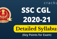 SSC CGL 2020 Detailed Syllabus