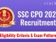 SSC CPO 2021 RECRUITMENT