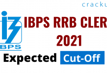 IBPS RRB CLERK 2021 EXPECTED CUT OFF 2021