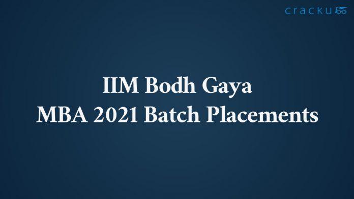 IIM Bodh Gaya Placements